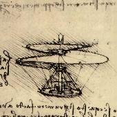 [Da Vinci's helicopter design]